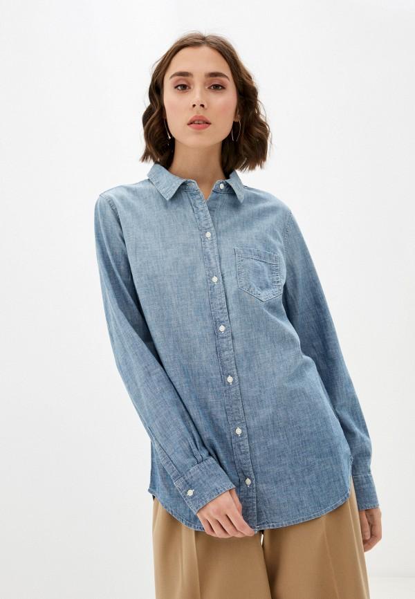 женская джинсовые рубашка gap, голубая