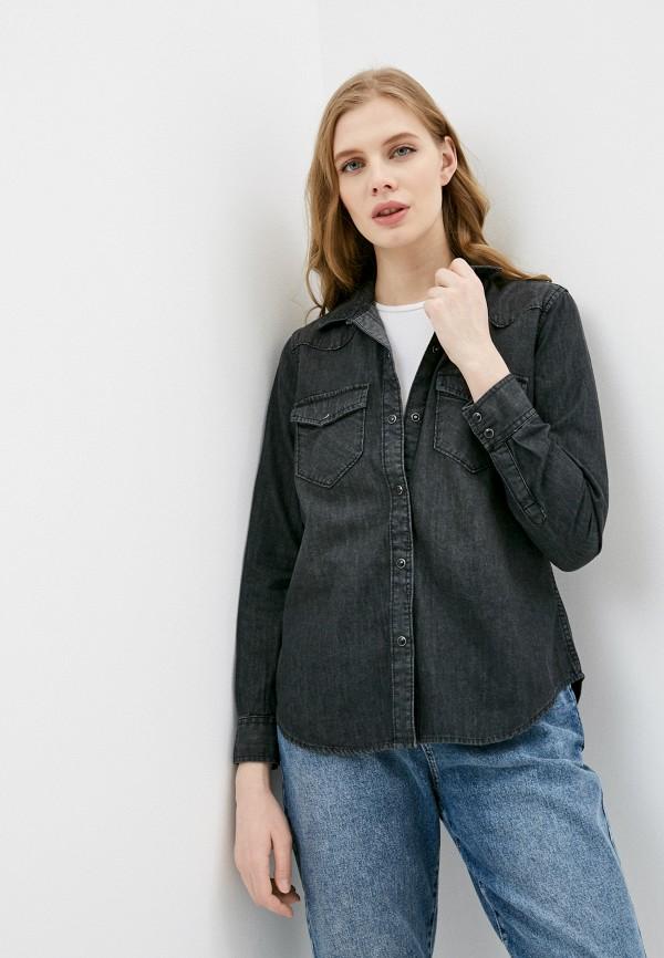 женская джинсовые рубашка gap, серая