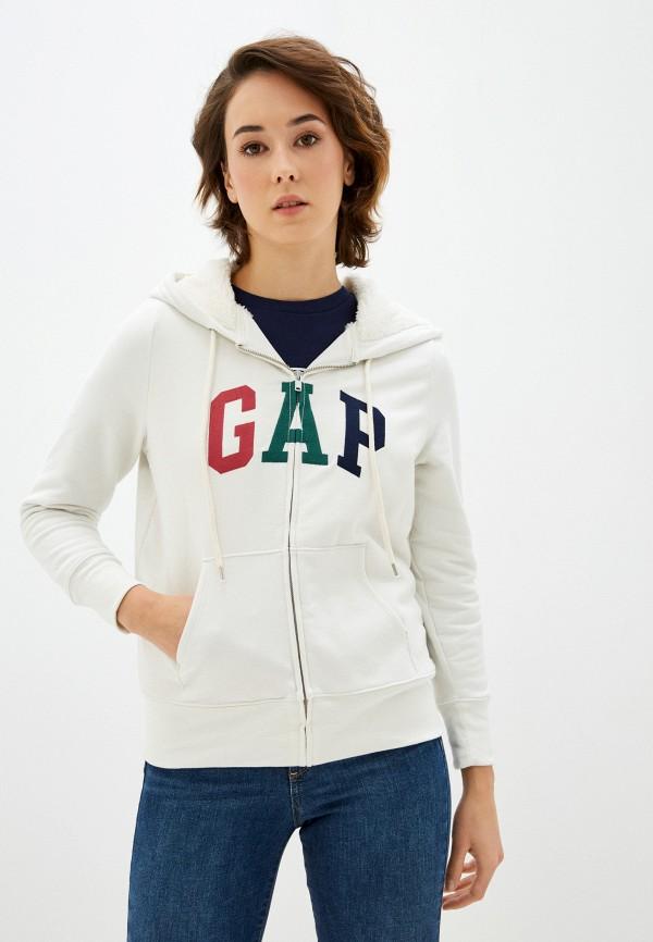 женская толстовка gap, белая