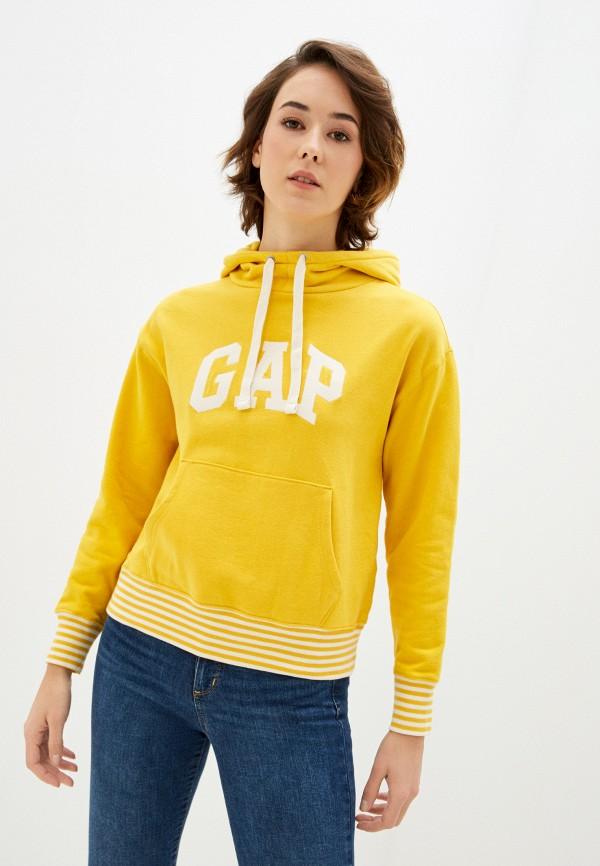 женские худи gap, желтые