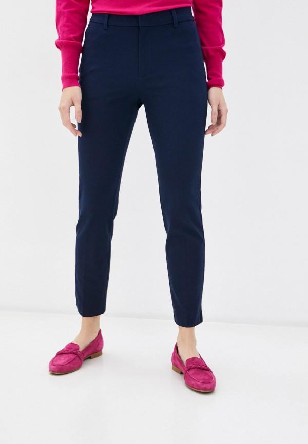 женские зауженные брюки gap, синие