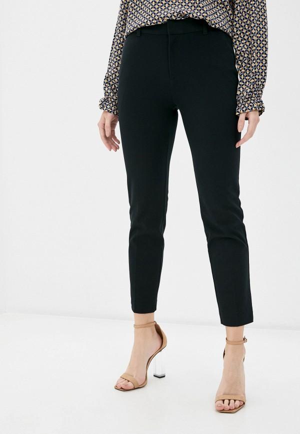 женские зауженные брюки gap, черные