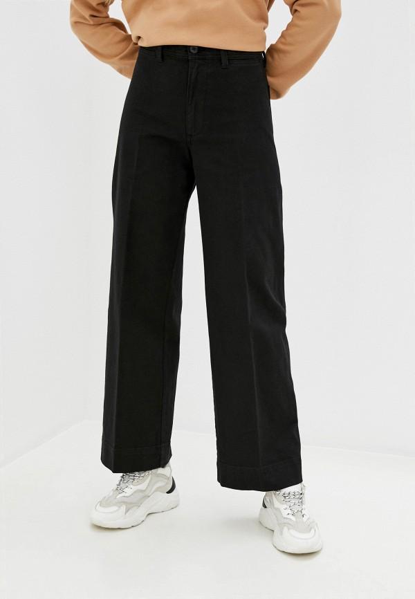 женские джинсы клеш gap, черные