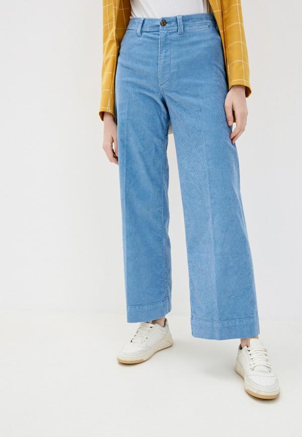 женские брюки клеш gap, голубые