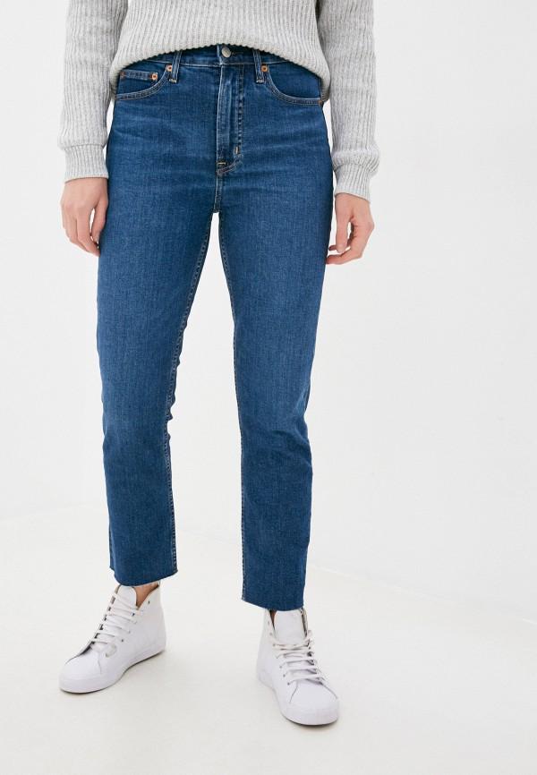 женские джинсы скинни gap, синие