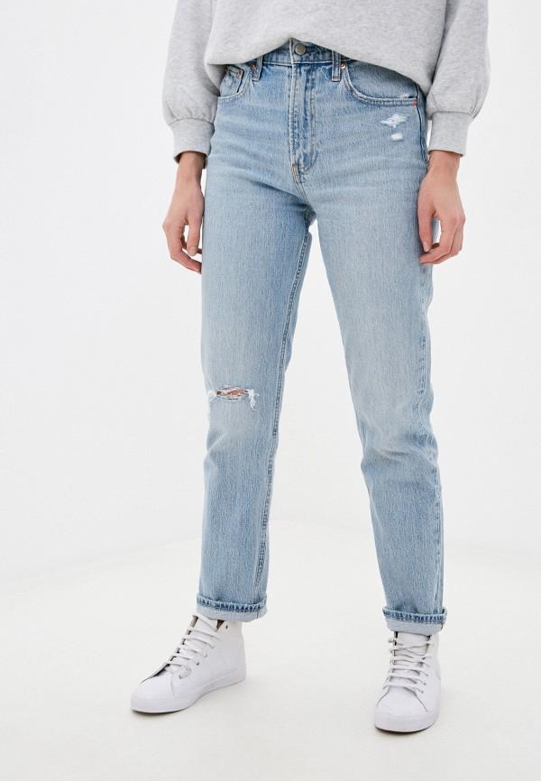 женские джинсы бойфренд gap, голубые