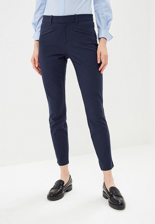 женские классические брюки gap, синие
