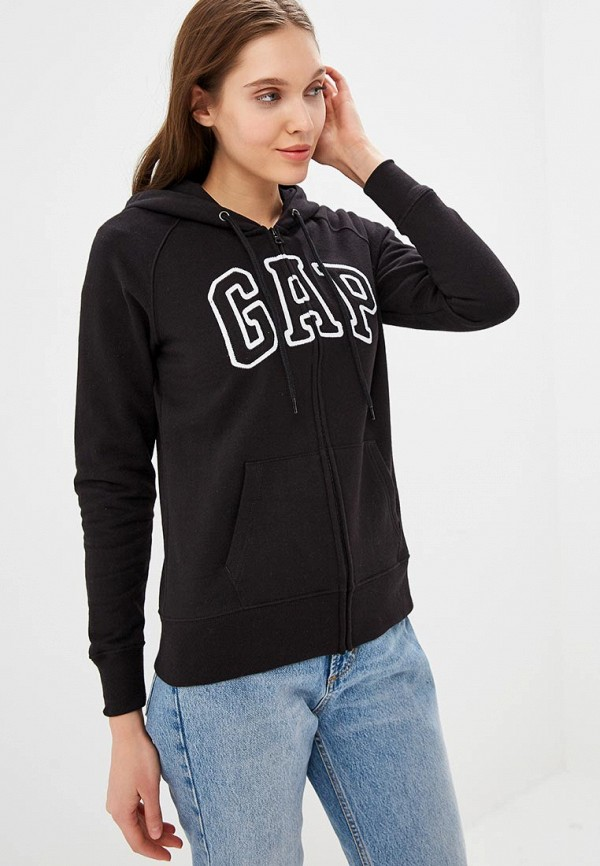женская толстовка gap, черная