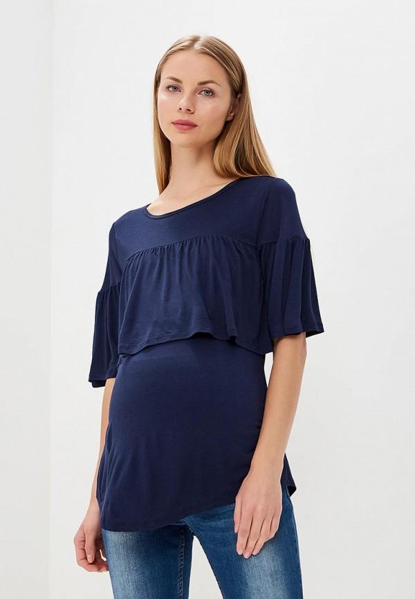 женский лонгслив gap maternity, синий