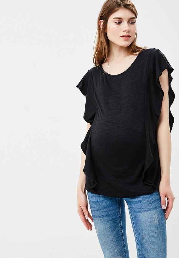 женская футболка gap maternity, черная