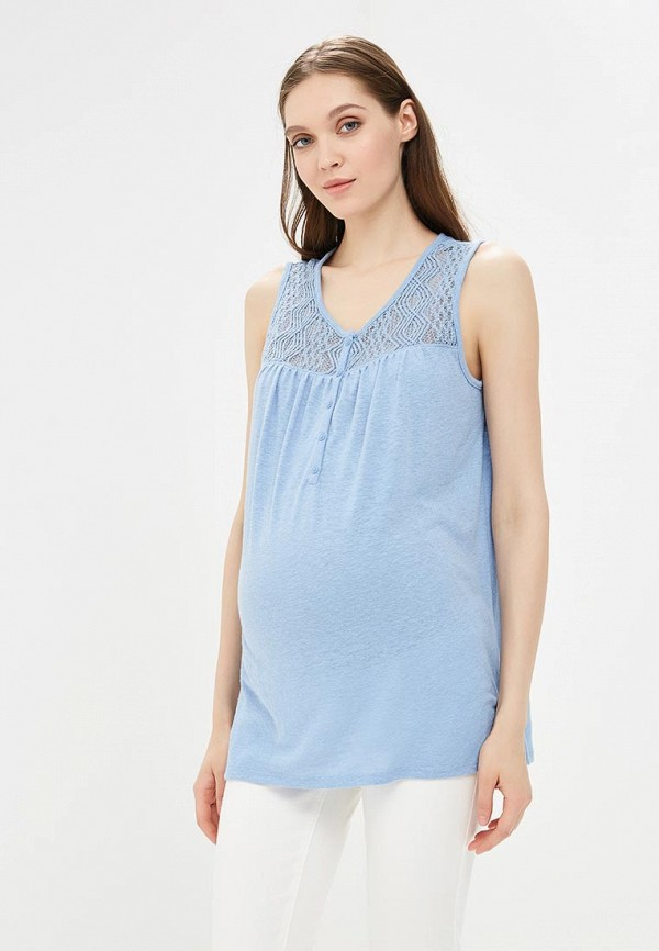 женская майка gap maternity, голубая
