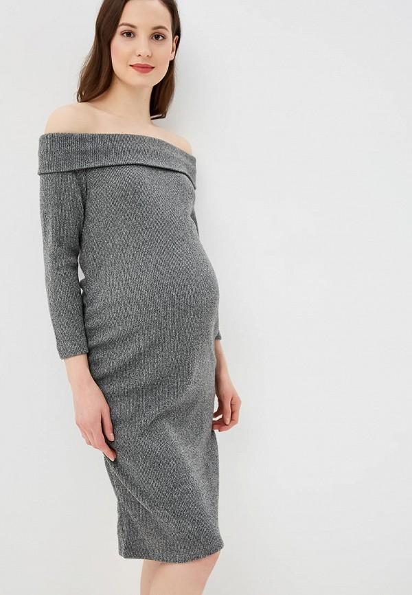 женское платье gap maternity, серое