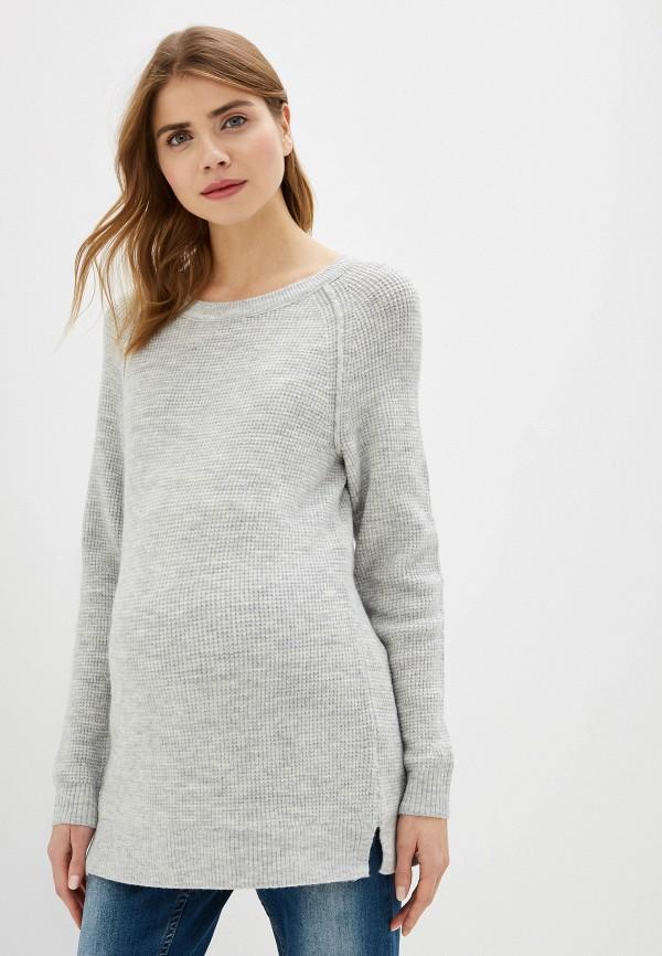 женский джемпер gap maternity, серый
