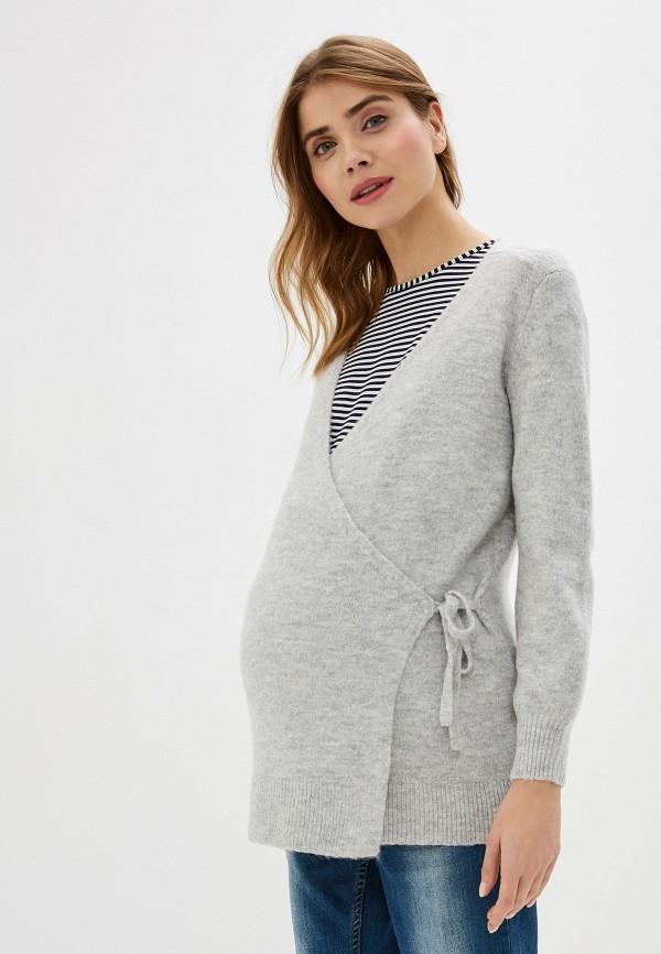 женский кардиган gap maternity, серый