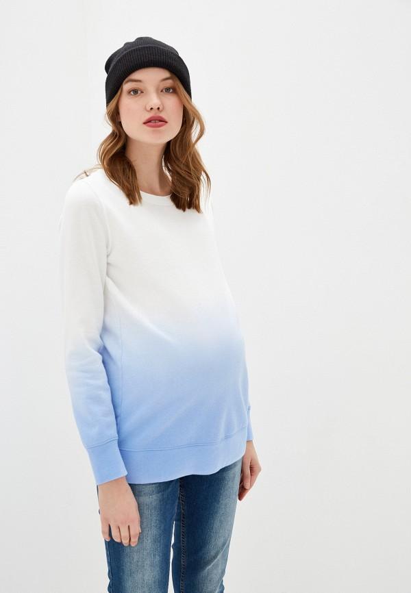 женский свитшот gap maternity, синий