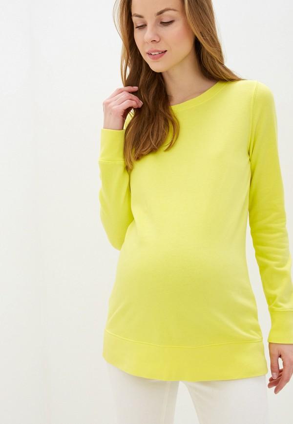 женский свитшот gap maternity, желтый