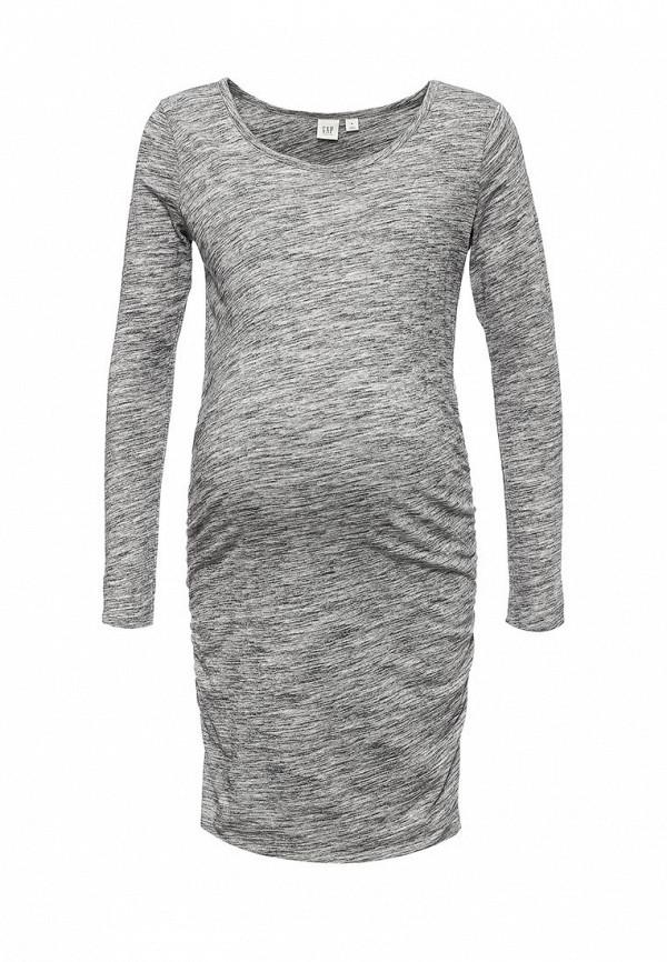 женское повседневные платье gap maternity, серое