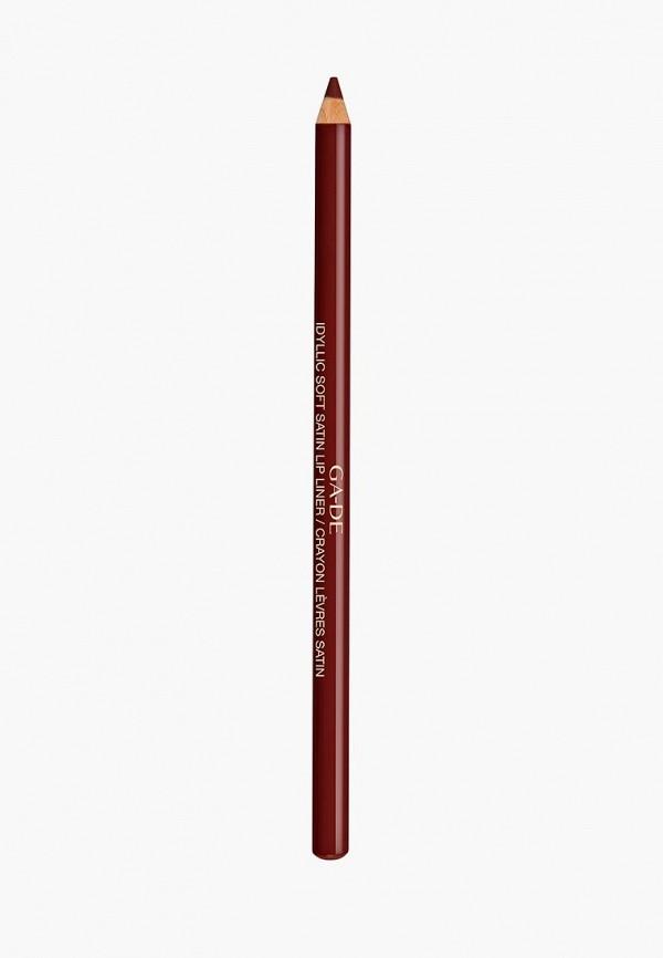 карандаш для губ ga-de, бордовый