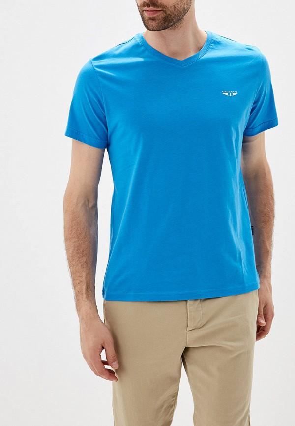Фото - мужскую футболку Galvanni голубого цвета