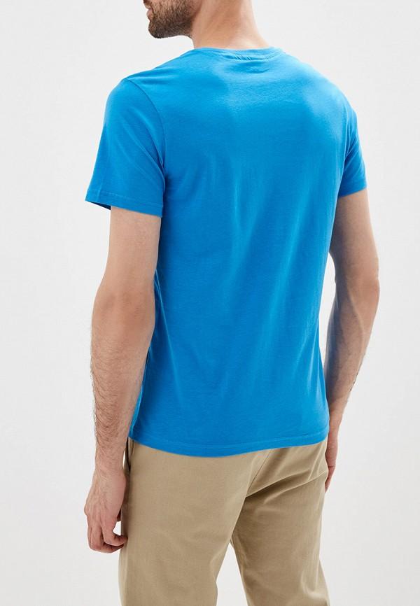 Фото 3 - мужскую футболку Galvanni голубого цвета