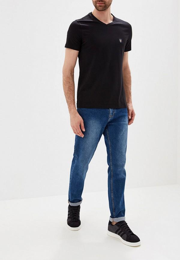 Фото 2 - мужскую футболку Galvanni черного цвета