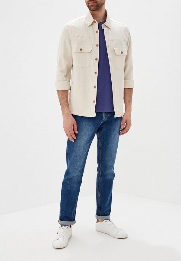 Фото 2 - мужскую футболку Galvanni синего цвета