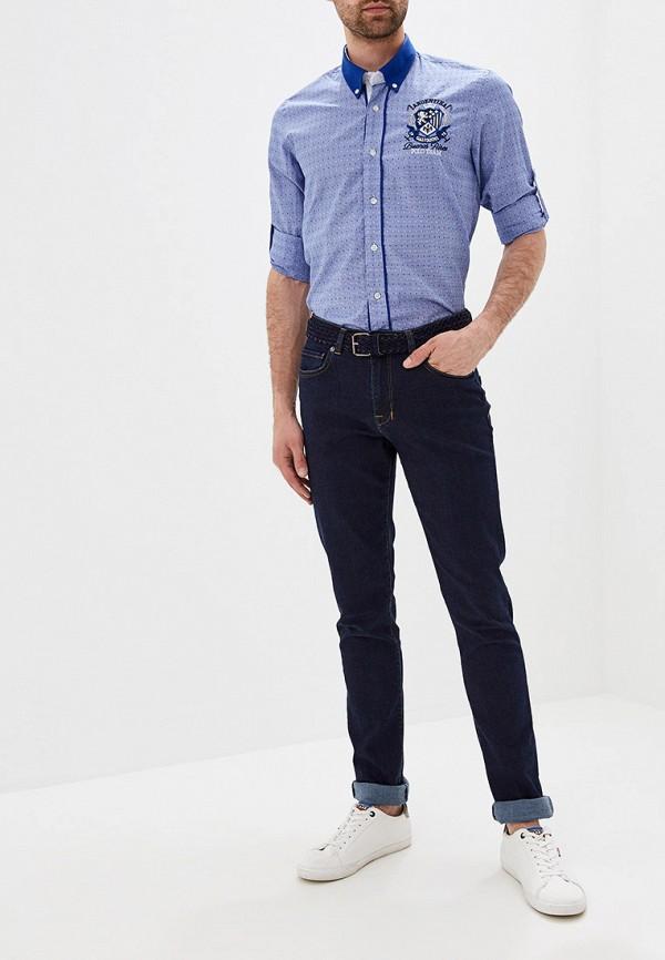 Фото 2 - мужскую рубашку Galvanni синего цвета