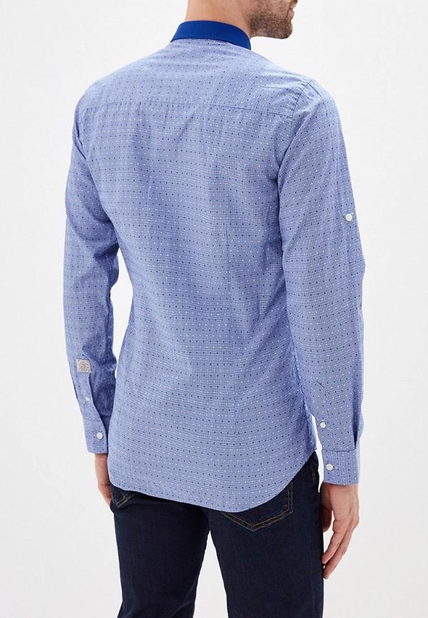 Фото 3 - мужскую рубашку Galvanni синего цвета