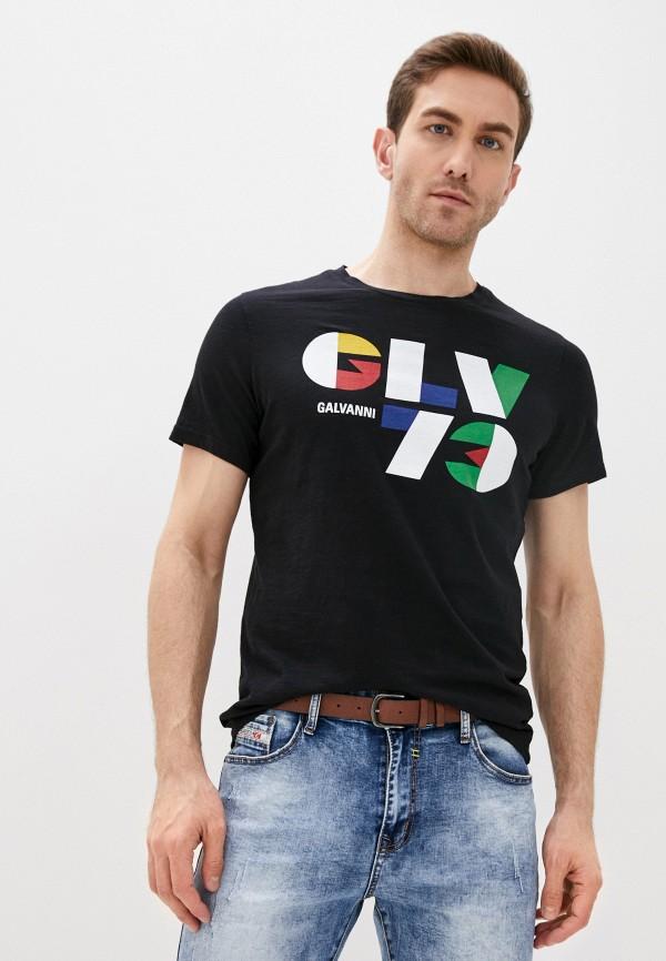 мужская футболка с коротким рукавом galvanni, черная