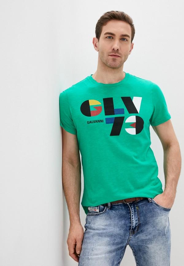 мужская футболка с коротким рукавом galvanni, зеленая