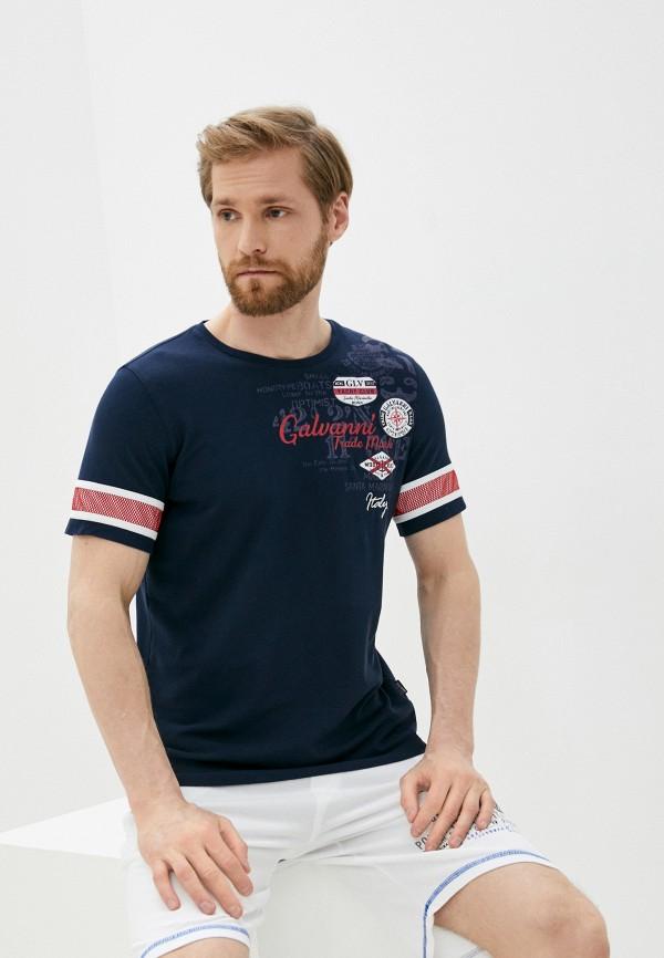 мужская футболка с коротким рукавом galvanni, синяя
