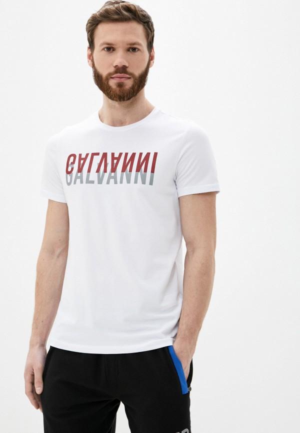 мужская футболка с коротким рукавом galvanni, белая