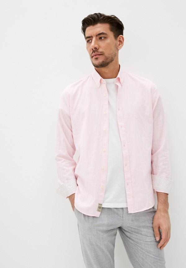 мужская рубашка galvanni, розовая