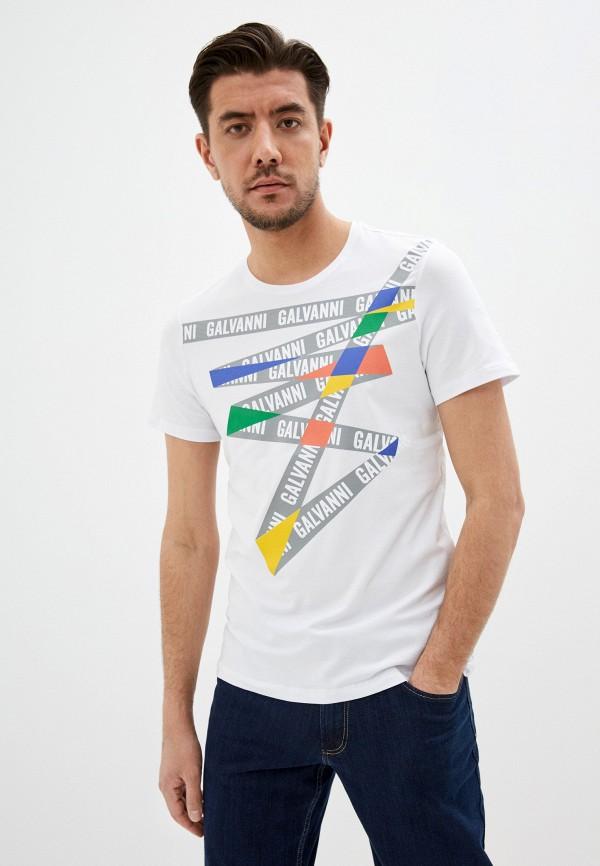 мужская футболка galvanni, белая