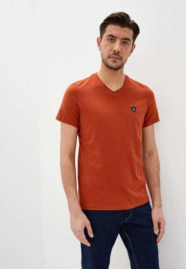 мужская футболка galvanni, коричневая