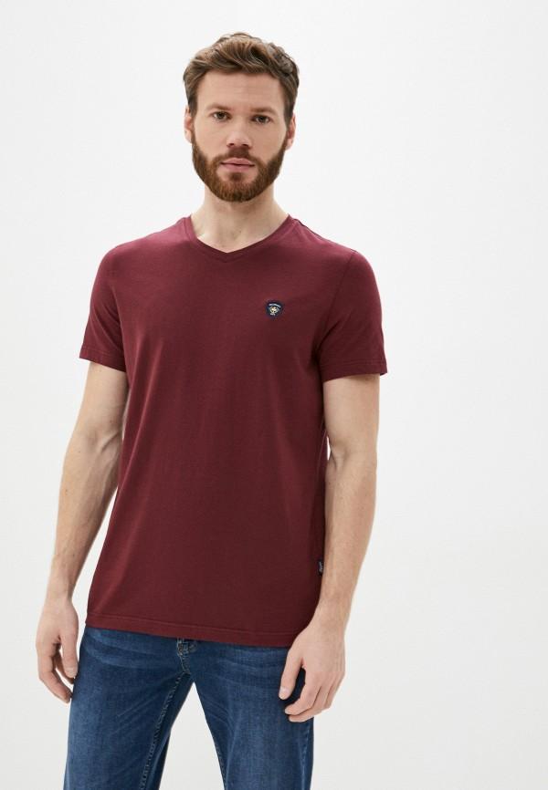 мужская футболка с коротким рукавом galvanni, бордовая