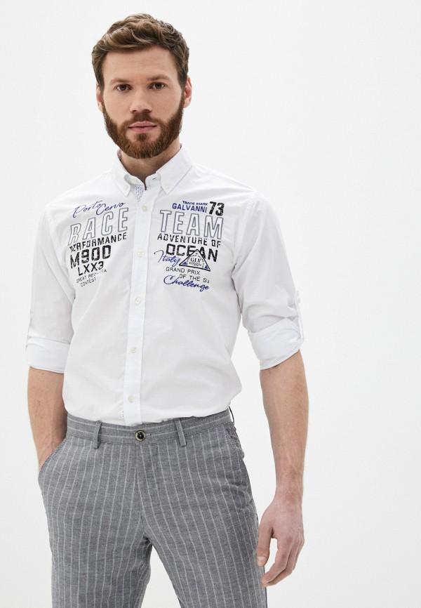 мужская рубашка с длинным рукавом galvanni, белая