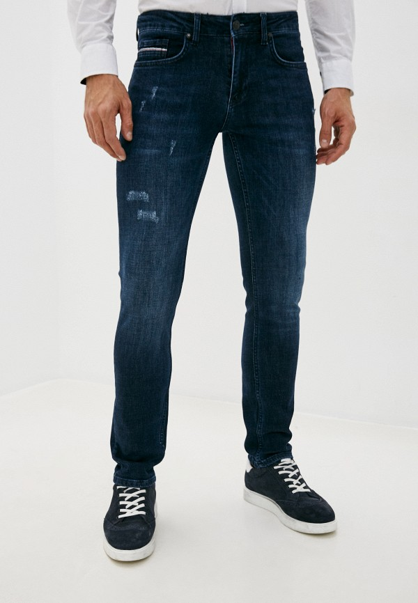 мужские зауженные джинсы galvanni, синие