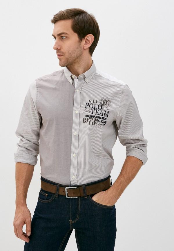 мужская рубашка с длинным рукавом galvanni, бежевая