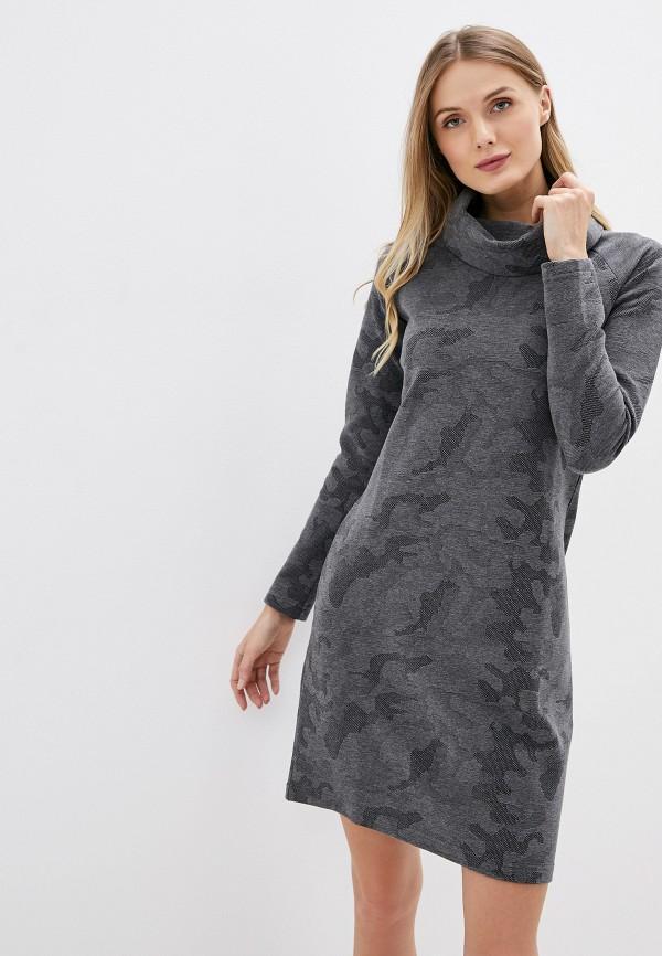 женское повседневные платье galvanni, серое