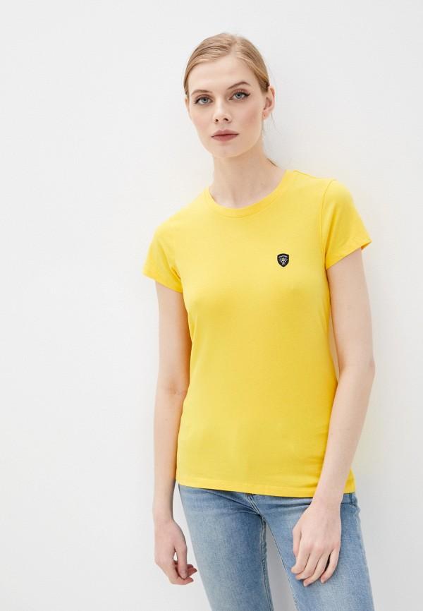 женская футболка galvanni, желтая
