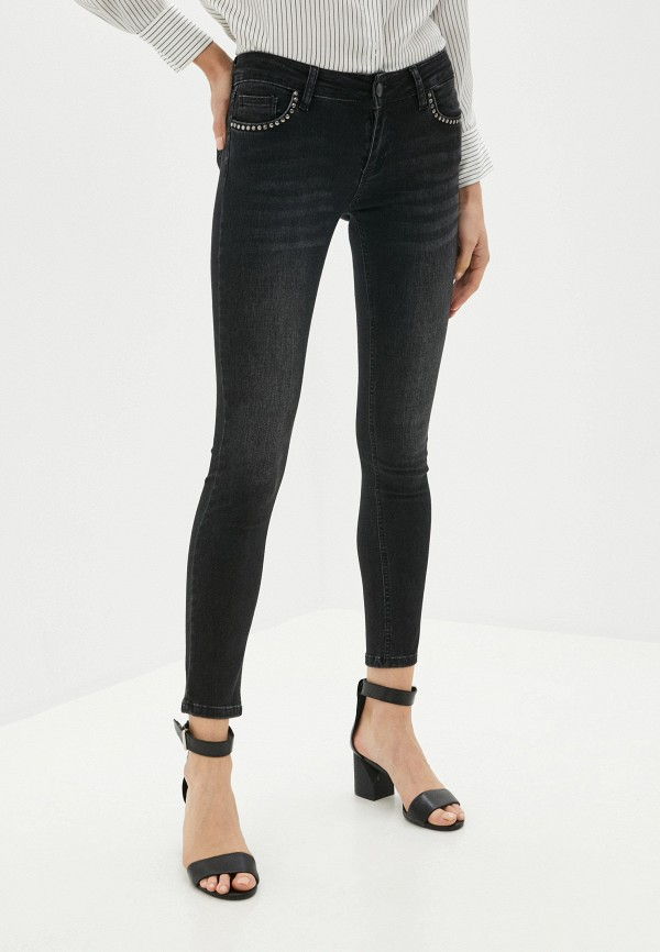 женские джинсы скинни galvanni, серебряные