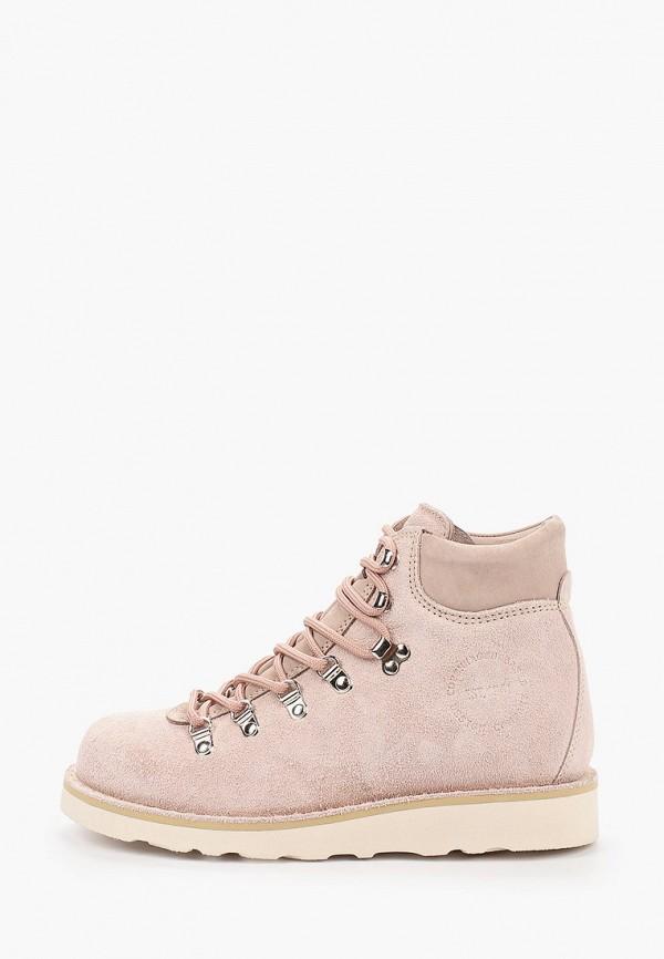 женские высокие ботинки gardenia copenhagen, розовые