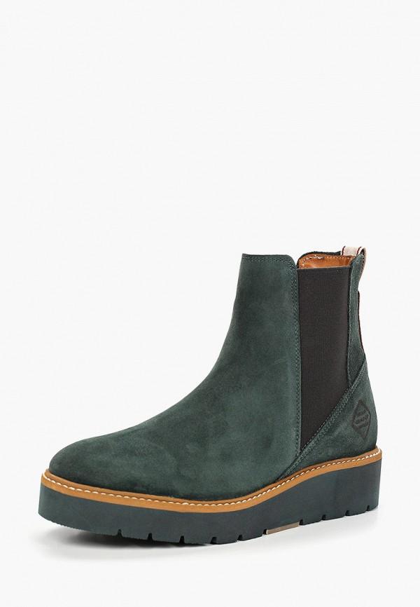 Фото 2 - женские ботинки и полуботинки Gant зеленого цвета