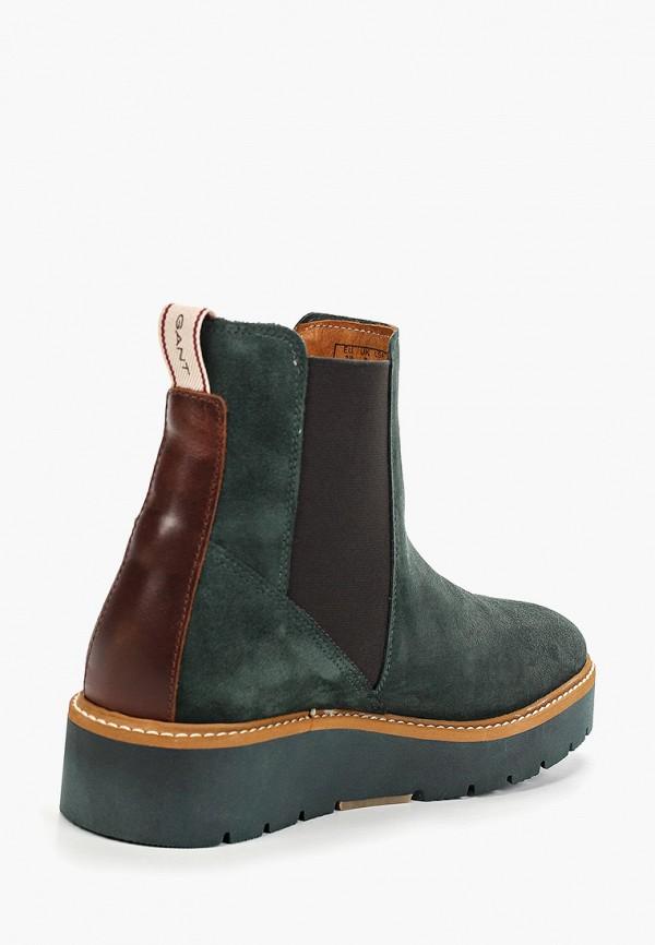 Фото 3 - женские ботинки и полуботинки Gant зеленого цвета
