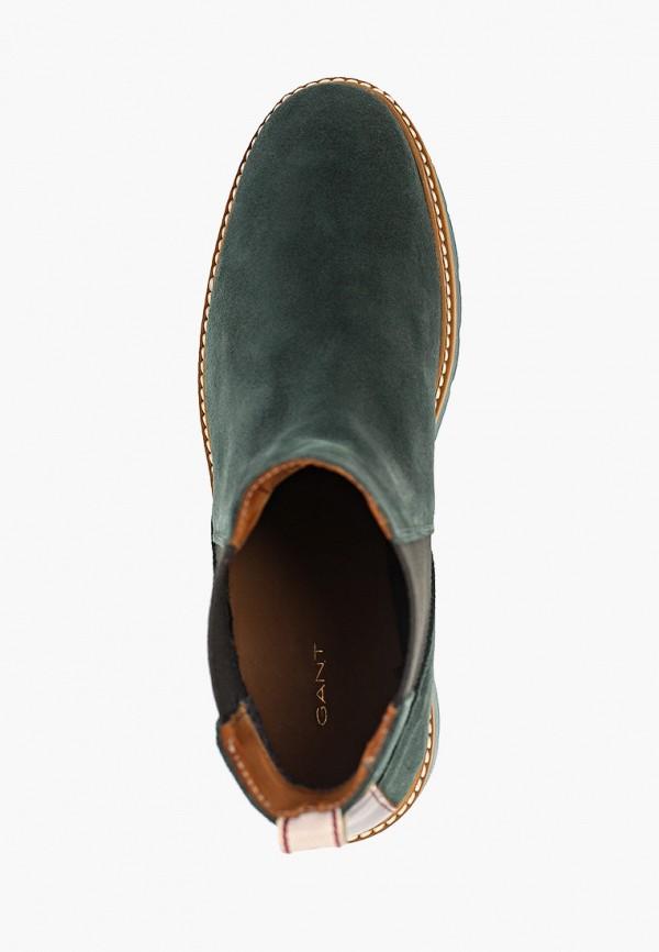 Фото 4 - женские ботинки и полуботинки Gant зеленого цвета