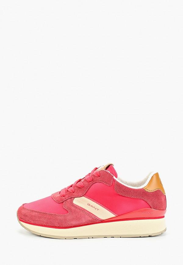 женские кроссовки gant, розовые