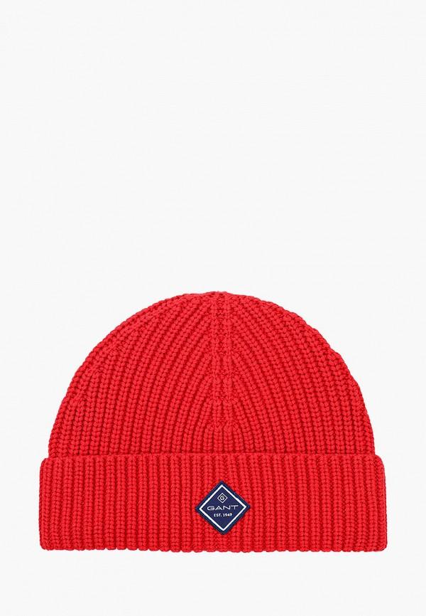 мужская шапка gant, красная