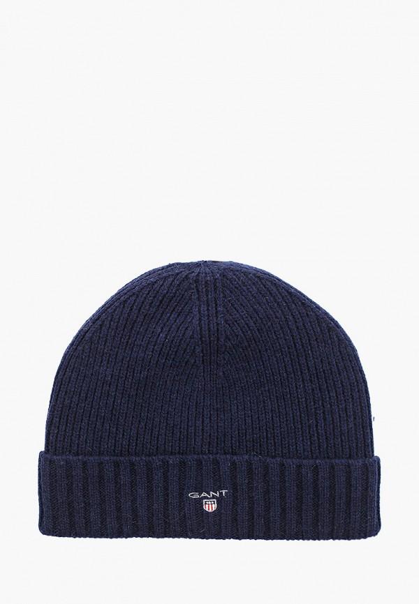 женская шапка gant, синяя
