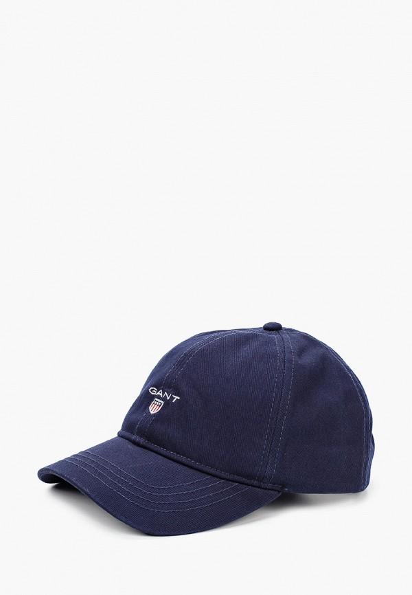 женская бейсболка gant, синяя